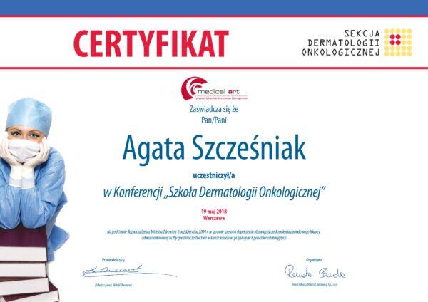 certyfikat drASz dermatologonkolg