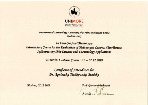 dr Agnieszka Terlikowska certyfikat2